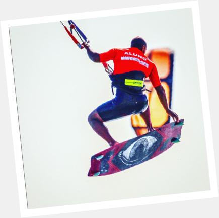 alunos de aulas avançadas de kiteboard