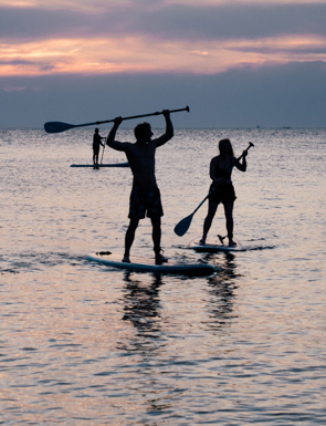 aulas de grupo de stand up paddle